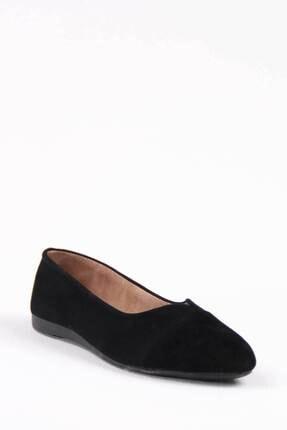 Gob London Kadın Siyah Süet Babet 1