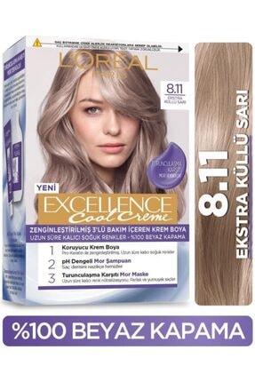 L'Oreal Paris L'oréal Paris Excellence Cool Creme Saç Boyası – 8.11 Ekstra Küllü Sarı 0