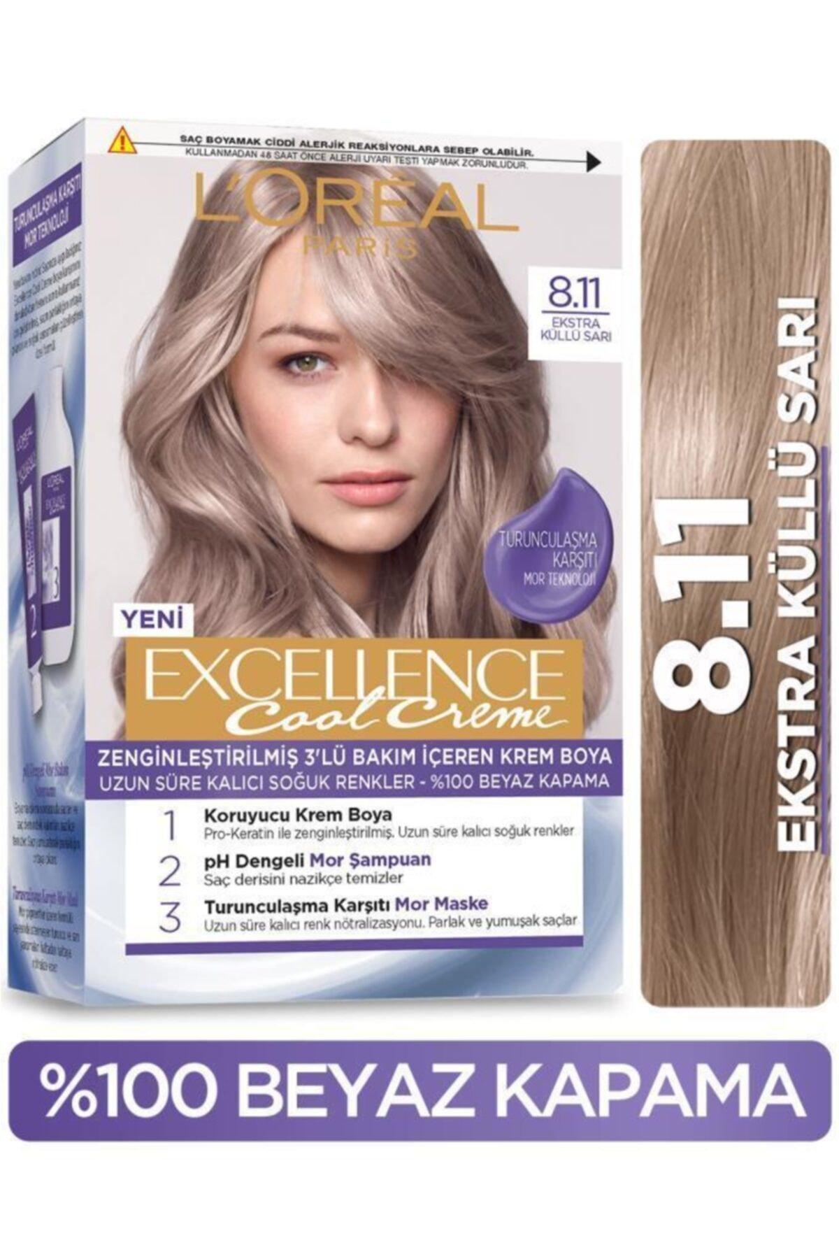 L'oréal Paris Excellence Cool Creme Saç Boyası – 8.11 Ekstra Küllü Sarı