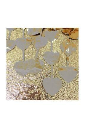 Süsle Baby Party Metalize Kalpli Kapı Ve Fon Perdesi, 1 X 1,8 Mt - Gümüş 3