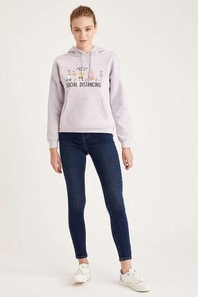 Defacto Kapüşonlu Baskılı Relax Fit Sweatshirt 1