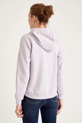 Defacto Kapüşonlu Baskılı Relax Fit Sweatshirt 3
