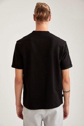 Defacto Erkek Siyah Nba Lisanslı Oversize Fit Bisiklet Yaka Sweatshirt 3
