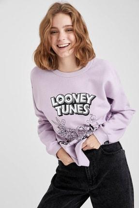 Defacto Looney Tunes Lisanslı Bisiklet Yaka Sweatshirt 2