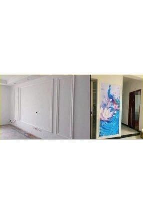 Renkli Duvarlar Nwçıta01 Beyaz 8cm-117cm Dekoratif Yapışkanlı Kenar Çıtası 4