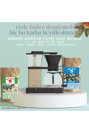Konchero Preciso Alüminyum Filtre Kahve Makinesi / 250 Gr X 4 Paket Yöresel Filtre Kahve Hediyeli 2