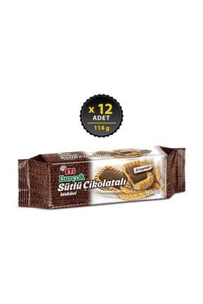 Eti Burçak Sütlü Çikolatalı 114 g x 12 Adet 0
