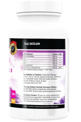 FLX Kollajen Tip-1 Tip-2 Tip-3 Collagen Hyaluronic Asit Vitamin C 180 Tablet 1
