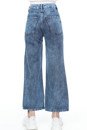 Sismo Butik Kadın Bol Paça Kot Pantolon Wide Leg Jeans 4