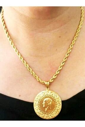 Altın Kaplama Yarım Altın Kolye baharhan1143