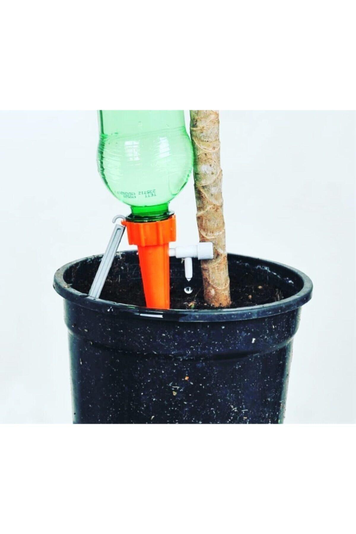 5 Adet  Musluklu Zaman Ayarlı Çiçek Bitki Sulama Aparatı