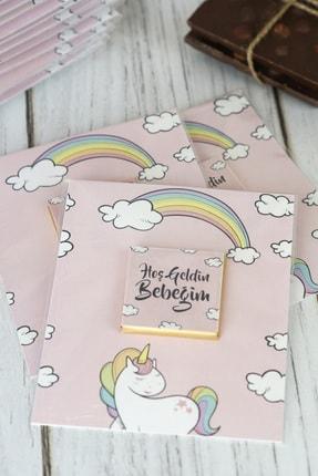 Doğum Günü Sepetim 32 Adet Bebek Çikolatası - Hediyelik Madlen Çikolata Unicorn 0