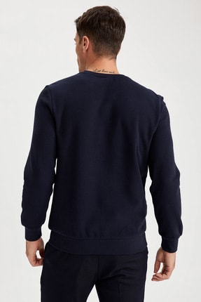 Defacto Desenli Slim Fit Bisiklet Yaka Sweatshirt 3