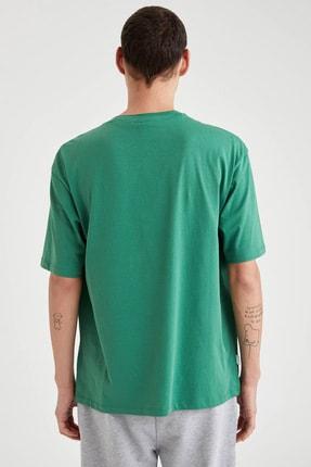 Defacto Fit Erkek Green Nba Lisanslı Oversize Fit Pamuklu Tişört T6199AZ20CW 3