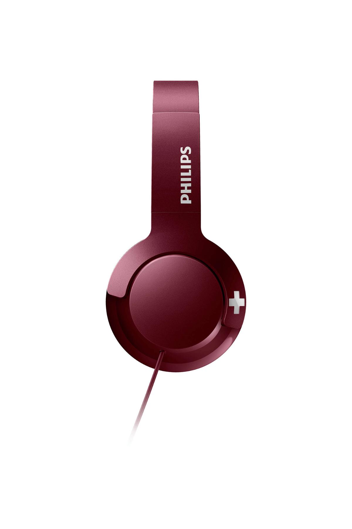 Philips SHL3075RD/00 Bass+mıkrofonlu Kırmızı Kulaklık 2