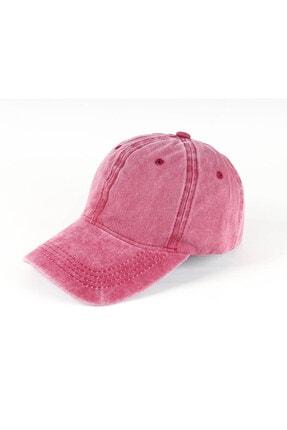 REBBEX Unisex Pembe Eskitme Vintage Kep Şapka 2