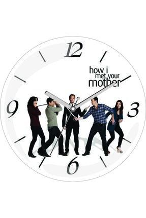 3M How I Met Your Mother Sessiz Akar Bombeli Gerçek Cam Duvar Saati 0