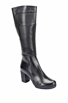 GÖNDERİ(R) Gön Hakiki Deri Siyah Topuklu Fermuarlı Günlük Kadın Çizme 44602 4