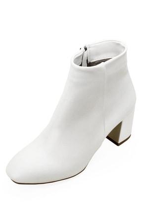 GÖNDERİ(R) Gön Beyaz Fermuarlı Yuvarlak Burun Günlük Kadın Bot 37346 2