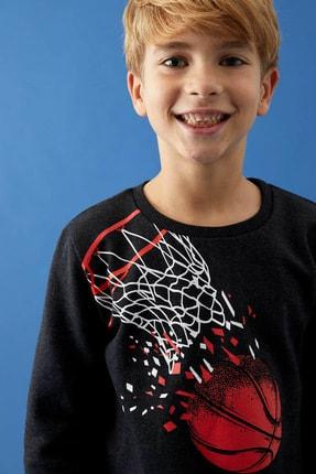 Defacto Erkek Çocuk Baskılı Sweatshirt Ve Jogger Eşofman Alt Takım 2