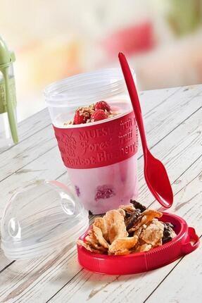 Kitchen Life Take'n Go Kapaklı Kaşıklı Hazırla Ve Çık Meyveli Yoğurt Kabı 2
