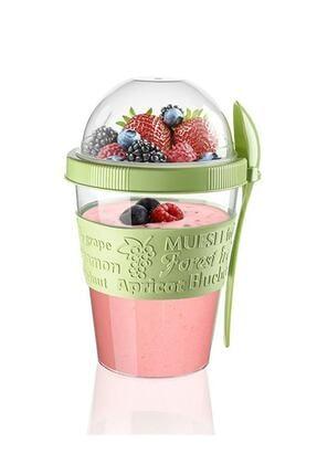 Kitchen Life Take'n Go Kapaklı Kaşıklı Hazırla Ve Çık Meyveli Yoğurt Kabı 4