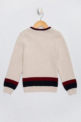 US Polo Assn Beyaz Erkek Çocuk Triko Kazak 1