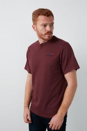 Levi's Erkek Bordo Bisiklet Yaka T-Shirt 1