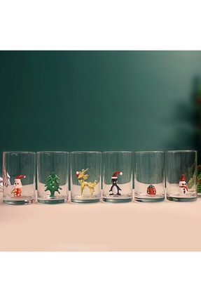 ADAMODART Yılbaşı Özel 6'lı Kahve Yanı Su Bardağı 2