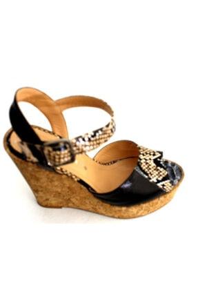 Kadın Siyah Dolgu Topuk Ayakkabı KRNVL1890