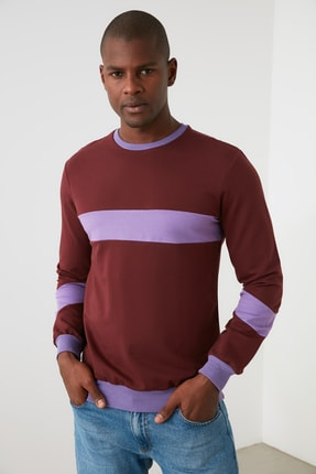 TRENDYOL MAN Kahverengi Erkek  Sweatshirt TMNAW21SW1099 0