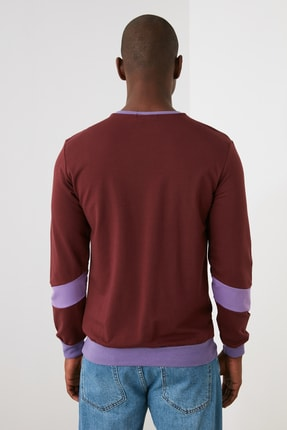 TRENDYOL MAN Kahverengi Erkek  Sweatshirt TMNAW21SW1099 3