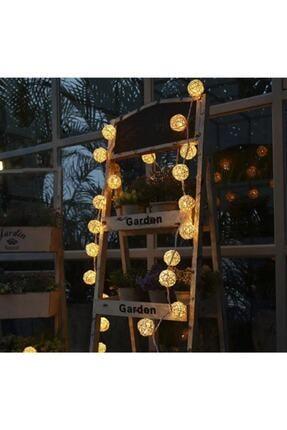 ERKOL OYUNCAK Dekoratif 2 Mt Bambu Hasır Led Işıklı Aydınlatma Toplar 10 Lu 4