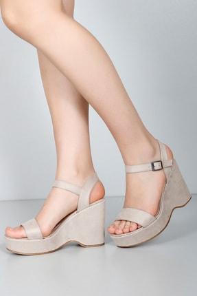 GÖNDERİ(R) Bej Nubuk Kadın Sandalet 41000 0