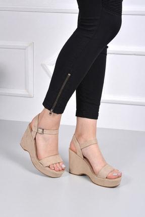 GÖNDERİ(R) Bej Nubuk Kadın Sandalet 41000 1