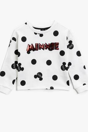 Koton Siyah Desenli Kız Çocuk Sweatshirt 0