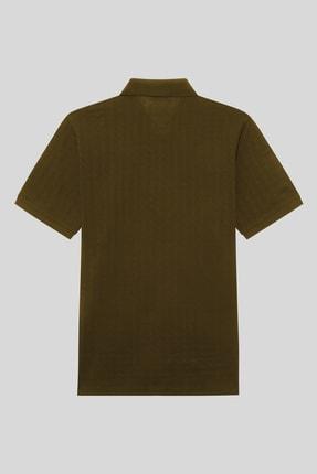 Halifaks Erkek Haki Polo Yaka Pamuklu T-shirt 2