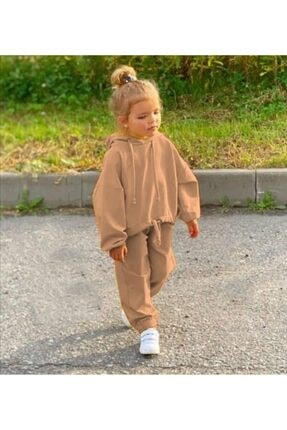 YASER COCUK Kız Çocuk Kahverengi Takım 0