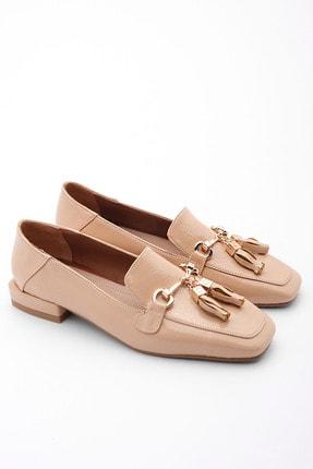 Marjin Kadın Bej Rugan Loafer Ayakkabı Desar 4