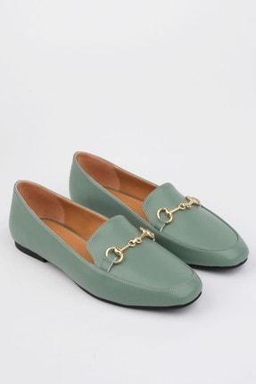 Marjin Kadın Yeşil Loafer Ayakkabı Bekla 0