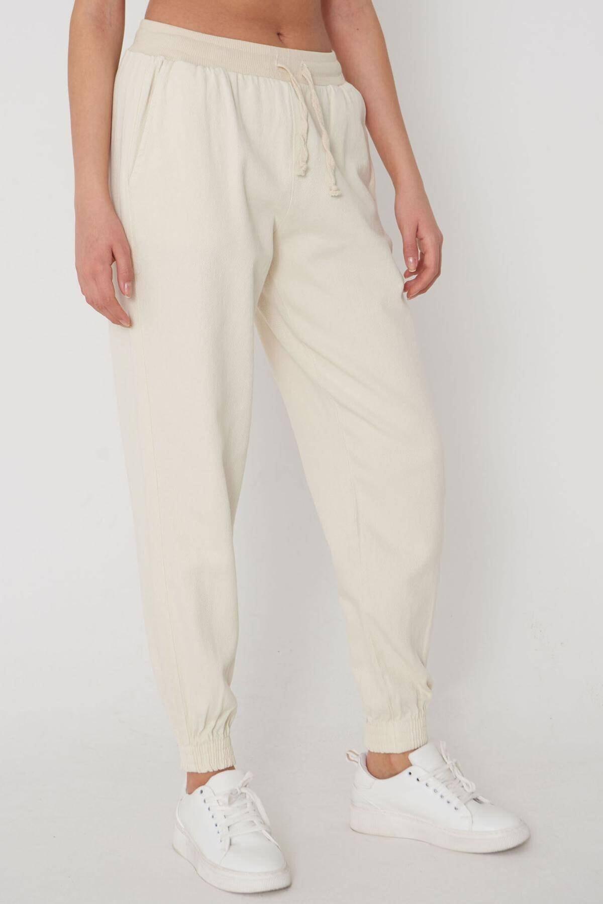 Addax Paçası Lastikli Pantolon Pn01-072 - W3 1