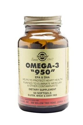 Solgar Omega-3 950 Mg 50 Kapsül 0