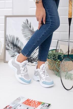 meyra'nın ayakkabıları Beyaz Mavi Spor Ayakkabı 3