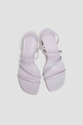 Pull & Bear Ince Bantlı Topuklu Sandalet 3