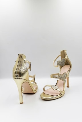 Altın Topuklu Ayakkabı AYK489