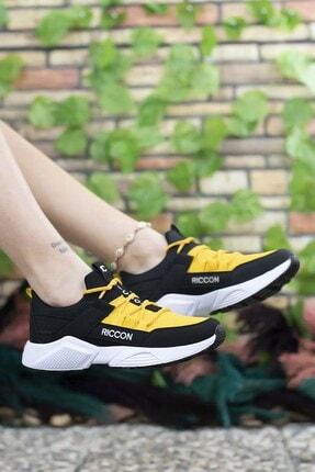 Riccon Siyah Sarı Unisex Sneaker 4