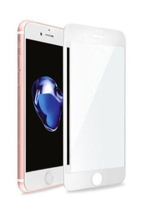 rez Iphone 7plus Ve 8plus 5d Komple Kaplayan Kırılmaz Cam Beyaz Full 1