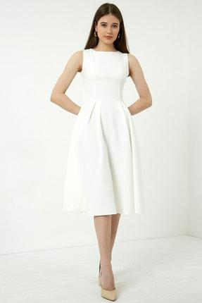 Vis a Vis Kadın Beyaz Midi Kolsuz Elbise 1