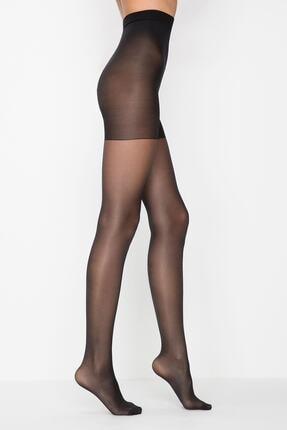 Penti Kadın Siyah Siluet Korseli Mat Külotlu Çorap 500/5 0