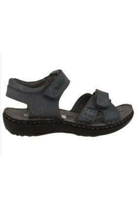 Toddler 01406 Çift Cırtlı Doğal Deri Gri Çocuk Sandalet 3 1